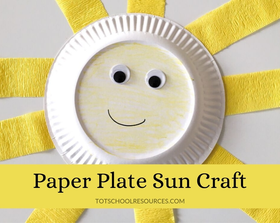 sun craft for preschool