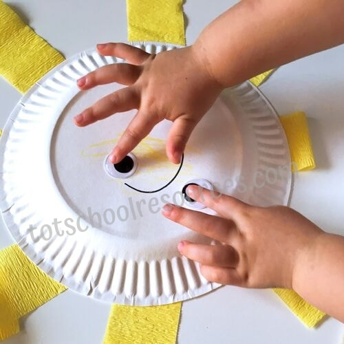 paper plate sunshine craft toddler