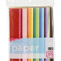 Tissue paper, assorted colors