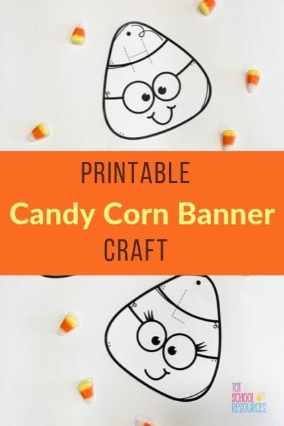 Candy corn banner