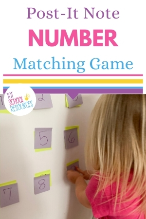 Post-it note number match