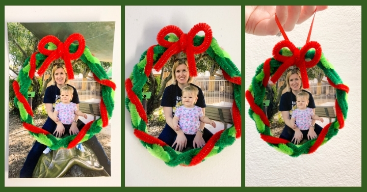 christmas wreath ornament keepsake