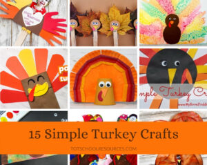 simple turkey crafts for kids