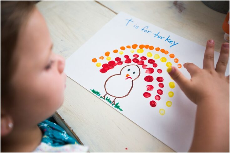 Fingerprint turkey craft
