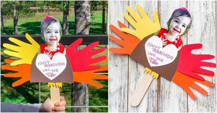 Construction Paper Turkey Handprint Craft