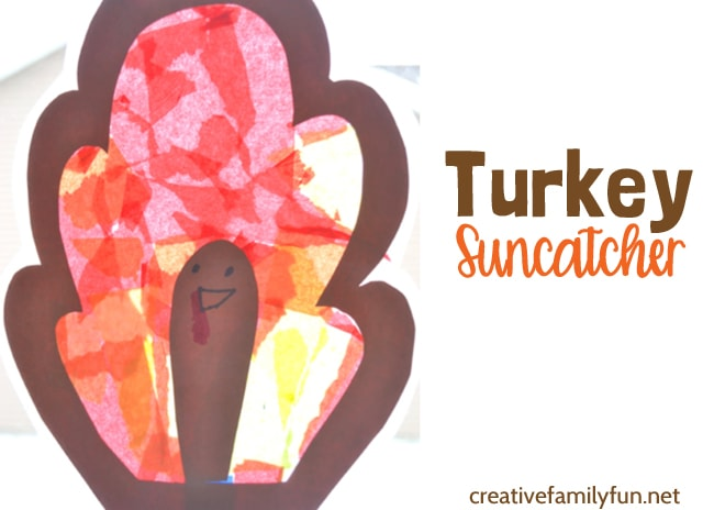 Turkey Suncatcher Thanksgiving Craft