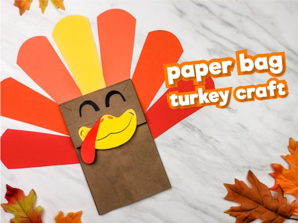 Paper Bag Turkey Craft For Kids