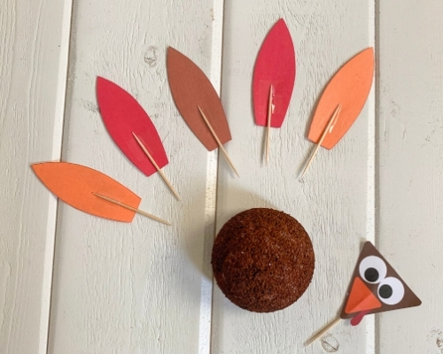 turkey craft template parts
