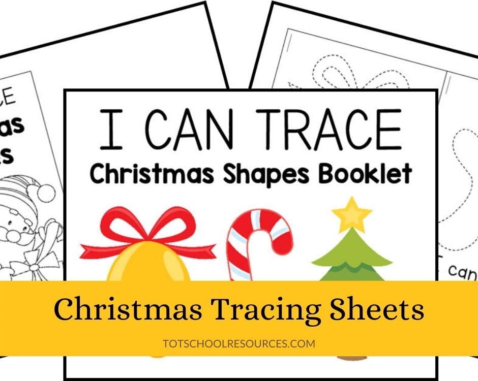 Christmas tracing sheets