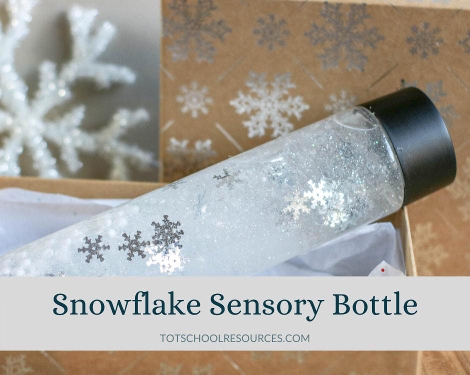 Snowflake sensory bottle