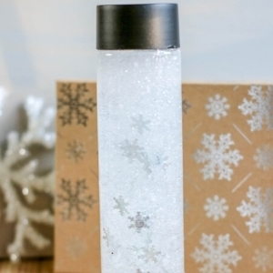 snow sensory bottle