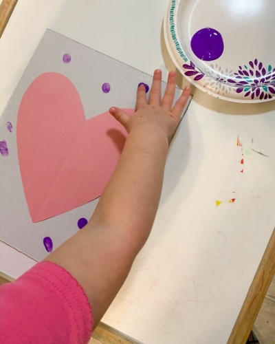 Valentine's Day fingerprint art
