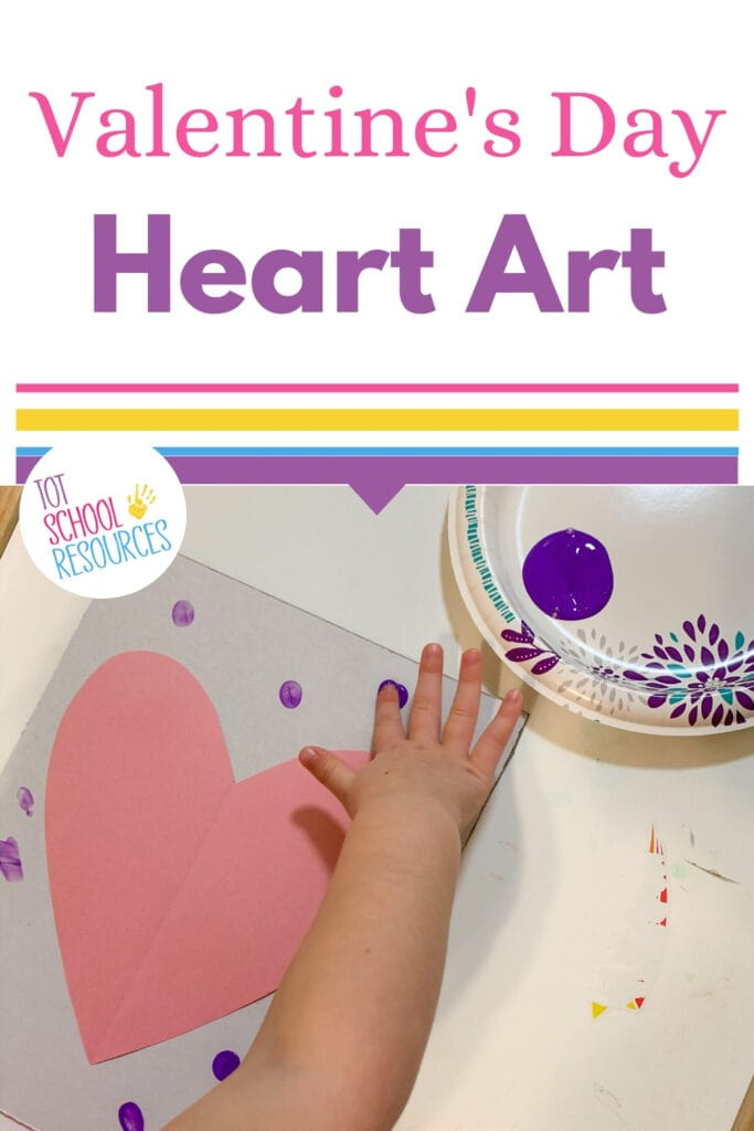 Valentine's Day heart art