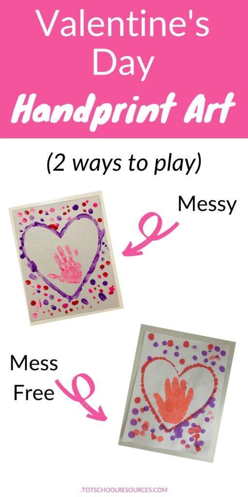 Valentines handprint art