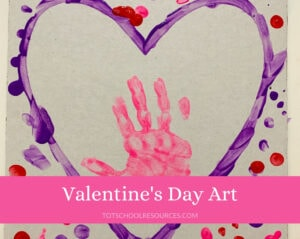 toddler Valentine's day art
