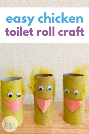 Chicken toilet roll craft