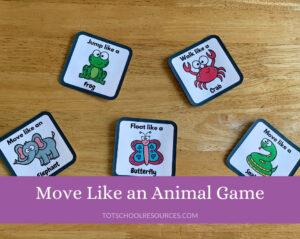 Move like an animal game