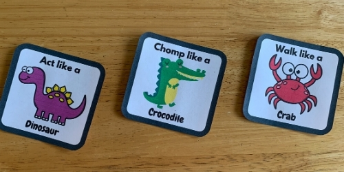 animal charade cards