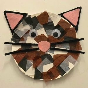 Paper Plate Cat Face Craft