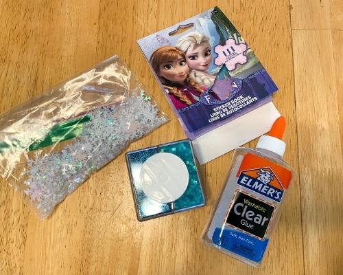 frozen sensory bottle supplies
