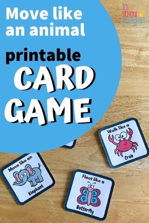move like an animal printable card game