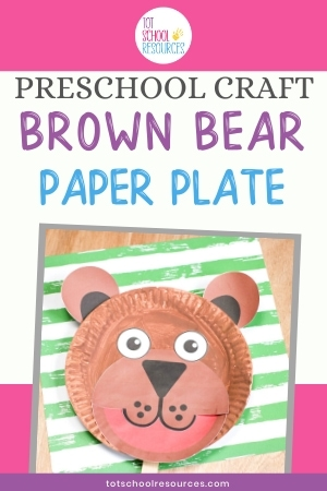 brown bear preschool craft