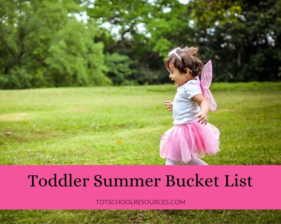 toddler summer bucket list