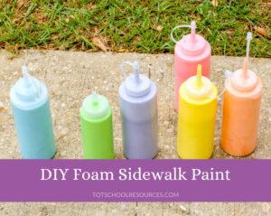 DIY sidewalk paint title image