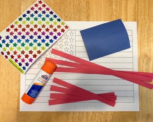 American flag craft supplies