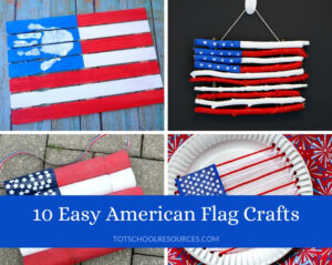 American flag crafts for preschoolers