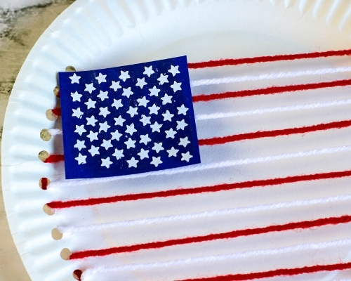 american flag paper plate craft