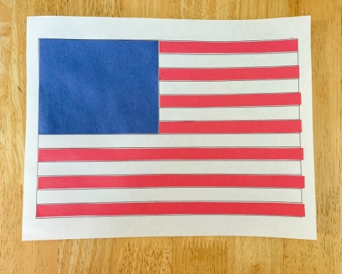 cut & paste flag craft