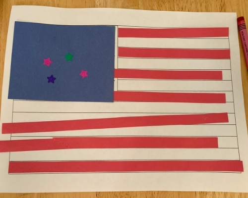 preschool american flag craft