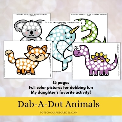 dot a dot animal worksheets