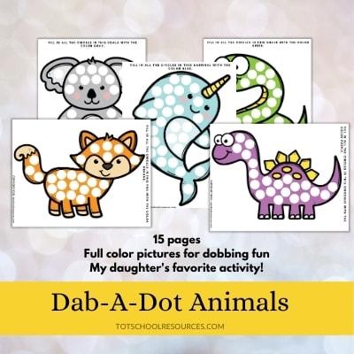 dot a dot animal worksheets