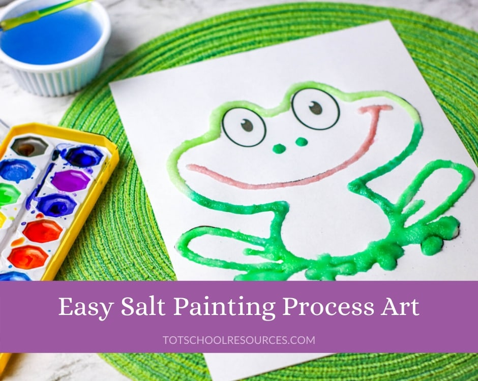 salt painting for kids