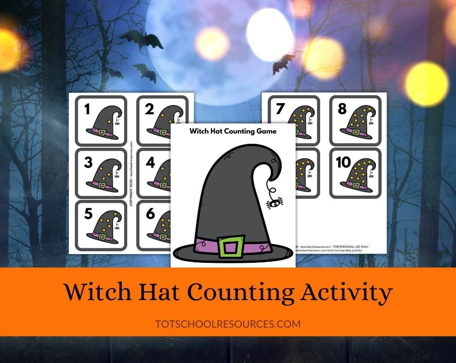 witch hat counting game