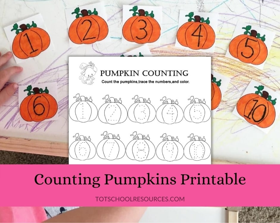 counting pumpkins printable