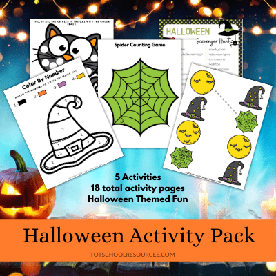 preschool halloween activity pack