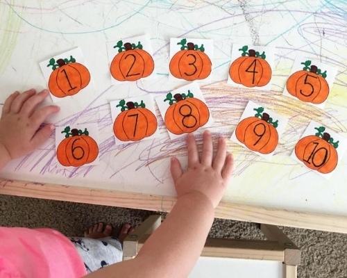 counting pumpkins halloween activity