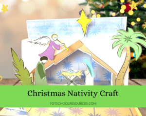 3D nativity craft