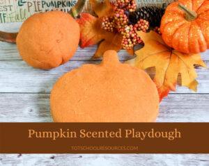 pumpkin scented playdough