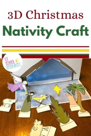 3d nativity craft