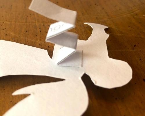 attach piece to angel