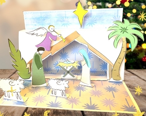 attach all pieces to manger