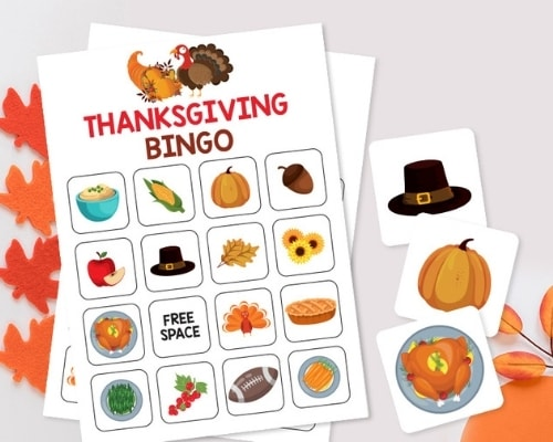 Printable Thanksgiving Bingo cards