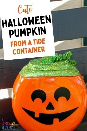 tide pod container pumpkin