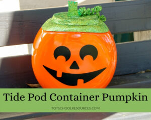 tide pod container pumpkin