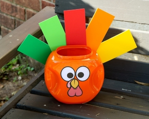 tide pod container turkey on bench