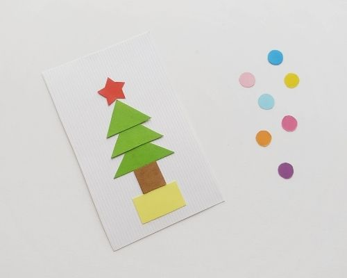 Christmas tree shape craft